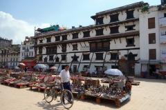 Arkitekturen runt Durbar Square, Katmandu.