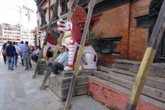 Del av Kumari House, Durbar Square, Katmandu.