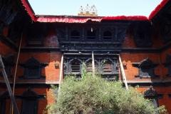 Innergården på Kumari House, Durbar Square, Katmandu.