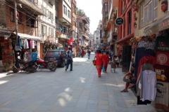 Berömda Freak Street, Katmandu.