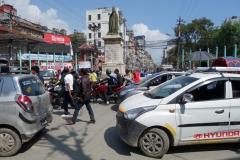 Juddha Shumsher Jang Bahadur Rana-statyn, Katmandu.