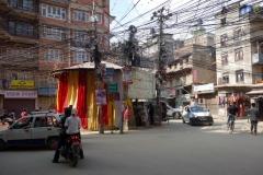 I början av min promenad till Swayambhunath-templet, Katmandu.
