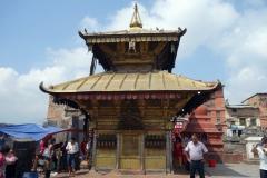Tempel uppe på Swayambhunath-komplexet, Katmandu.