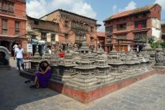 Swayambhunath-komplexet, Katmandu.