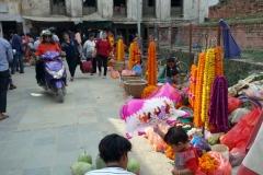 Gatustånd vid Durbar Square, Katmandu.