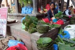 Försäljare på Durbar Square, Katmandu.