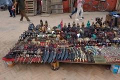 Gatustånd på Durbar Square, Katmandu.