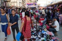 Makhan Tole vid norra delen av Durbar Square, Katmandu.