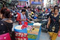 Gatuscen i centrala Katmandu.