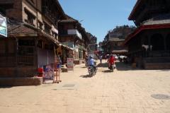 Gatuscen vid Dattatraya Tol, Bhaktapur.