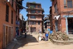 Bostadshus i centrala Bhaktapur.