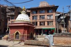 Stupa i centrala Bhaktapur.