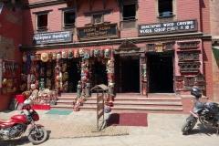 Träsnideriaffär vid Taumadhi Tol, Bhaktapur.