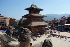 Utsikten över Taumadhi Tol från Nyatapola Pagoda, Bhaktapur.
