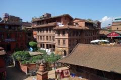 Omgivningarna till Taumadhi Tol från Nyatapola Pagoda, Bhaktapur.