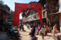 Gatuscen i gamla staden, Bhaktapur.