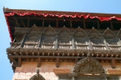Detaljer på 55 Windowed Palace, Durbar Square, Bhaktapur.