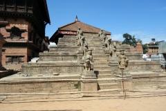 Raserat tempel på Durbar Square, Bhaktapur.