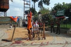 Precis innan jag anlände till platsen offrades några getter till gudinnan Durga, Katmandu.