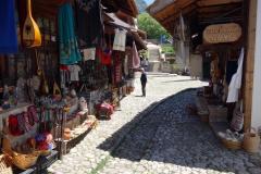 Marknadsgatan i den gamla delen av Kruja.