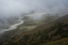 Pheriche-dalen längs trekken mellan Dingboche och Lobuche.