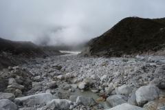 Lobuche-floden alldeles vid Dughla, längs trekken mellan Dingboche och Lobuche.