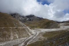 Den sista biten av leden upp mot Lobuche som är relativt platt.