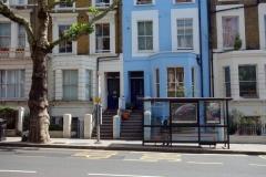 Entrén till mitt boende på gatan Ladbroke Grove, Notting Hill.