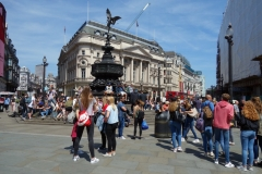 Shaftesbury Memorial Fountain, Piccadilly Circus, West End.