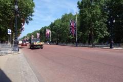 The Mall, gatan som går mellan Buckingham Palace och Trafalgar Square.