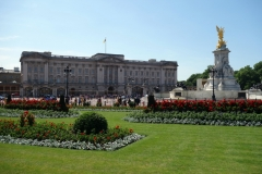 Buckingham Palace och Victoria Memorial.