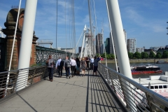 Hungerford Bridge and Golden Jubilee Bridges.