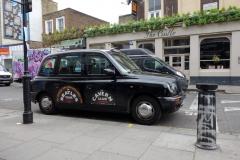 En TX4 tillverkad av London EV Company, Porotbello Road.