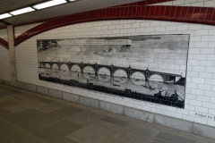 Konst i tunneln under Blackfriars Bridge, Southwark.
