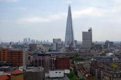 Utsikt mot Londons högsta byggnad, The Shard, från Tate Modern.