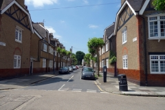 Bostadsområde i Greenwich.