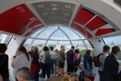 Inne i gondolen, London Eye, South Bank.