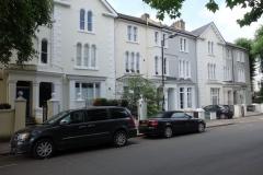 Den vackra bebyggelsen i Notting Hill.