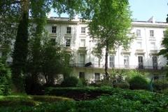 En liten park i Notting Hill.