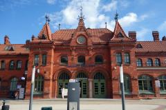 Tågstationen i Malbork.