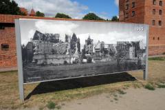 Andra världskrigets förstörelse av Ordensborgen Malbork.