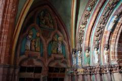 Den vackra gotiska entrén (Golden Gate) till St Mary's Church, Ordensborgen Malbork.