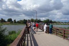 Bron över floden Nogat  vid vilken Ordensborgen Malbork är belägen.