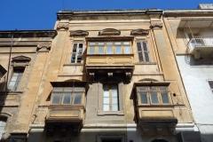 Klassiska maltesiska balkonger, Valletta.