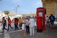 Brittisk telefonkiosk, Republic Square, Valletta.