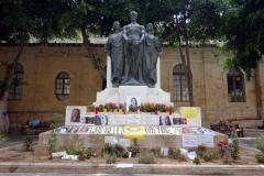 Great Siege Monument 1565. Journalisten och antikorruptionsaktivisten Daphne Caruana Galizia hedras här. Mördades av en bilbomb på Malta.