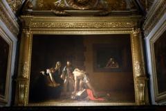 Carvaggios mästerverk, Johannes Döparens Halshuggning, St John's Co-Cathedral, Valletta.