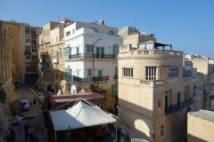 Del av Cafe Deux Baronnes från Upper Barrakka Gardens, Valletta.