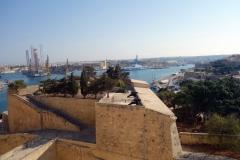 Vy över delar av Valletta från Upper Barrakka Gardens, Valletta.