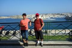 Mamma och pappa, Upper Barrakka Gardens, Valletta.